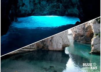 blue cave and stiniva
